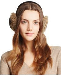 Surell - Rabbit Fur Ear Muffs - Lyst