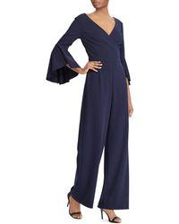 Ralph Lauren - Lauren Bell-sleeve Crepe Jumpsuit - Lyst