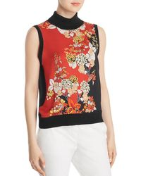 Elie Tahari - Abigail Silk Sleeveless Turtleneck - Lyst