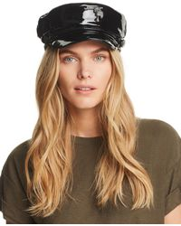 Genie by Eugenia Kim - Jessa Faux Patent Leather Newsboy Cap - Lyst