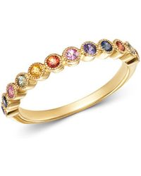 Bloomingdale's - Multicolor Sapphire Band Ring In 14k Yellow Gold - Lyst