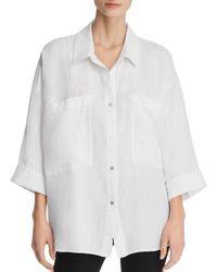 Eileen Fisher - Classic Spread-collar Shirt - Lyst
