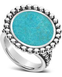 Lagos - Sterling Silver Maya Turquoise Circle Ring - Lyst
