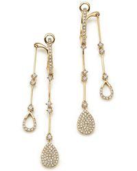 KC Designs - 14k Yellow Gold Diamond Micro Pavé Front-back Drop Earrings - Lyst