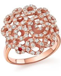Roberto Coin - 18k Rose Gold Moresque Diamond Band Ring - Lyst