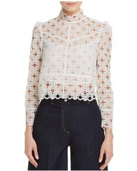 Sandro - Coralisse Eyelet-lace Top - Lyst