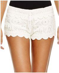 Surf Gypsy - Crochet Swim Cover-up Shorts - Lyst