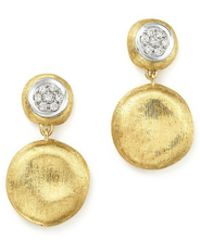 Marco Bicego | 18k White & Yellow Gold Diamond Pavé Jaipur Link Drop Earrings | Lyst