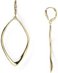 Alexis Bittar - Miss Havisham Sculpted Aura Teardrop Leverback Earrings - Lyst