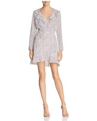 Lucy Paris | Ruffled Printed Wrap Dress | Lyst