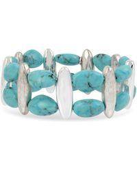 Robert Lee Morris - Turquoise Stretch Bracelet - Lyst