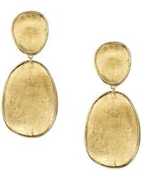 Marco Bicego - 18k Yellow Gold Lunaria Two Tiered Drop Earrings - Lyst