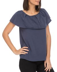 B Collection By Bobeau - Marti Overlay Tee - Lyst