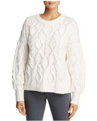 1.STATE - Cable Knit Jumper - Lyst