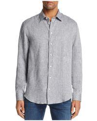 Emporio Armani - Tonal Stitch Regular Fit Button-down Shirt - Lyst