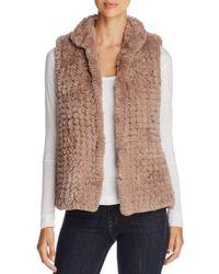 Bagatelle - Knit Faux-fur Vest - Lyst
