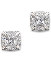 Bloomingdale's - Diamond Princess Cut Stud Earrings In 14k White Gold - Lyst