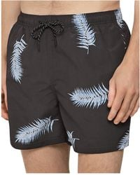 62e73efc5c Reiss Islander Leaf Print Swim Shorts in White for Men - Lyst