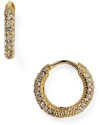 Nadri - Pavé Huggie Hoop Earrings - Lyst