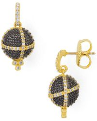 Freida Rothman - Textured Ornament Drop Earrings - Lyst
