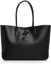 Longchamp - Roseau Leather Tote - Lyst