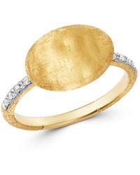 Marco Bicego - 18k Yellow Gold Siviglia Diamond Ring - Lyst