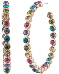 Aqua - Multicolor Hoop Earrings - Lyst