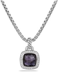 David Yurman - Albion Pendant With Black Orchid And Diamonds - Lyst