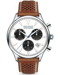 Movado - Heritage Series Calendoplan Chronograph & Date Watch - Lyst