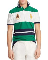 8ec07034 Polo Ralph Lauren Striped Rugby Shirt in Blue for Men - Lyst