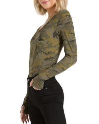 n:PHILANTHROPY Boot Camouflage - Print Bodysuit - Green