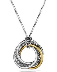 David Yurman - Crossover Small Pendant With Gold On Chain - Lyst