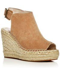 Kenneth Cole - Olivia Suede Espadrille Wedge Platform Sandals - Lyst