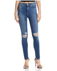 Rag & Bone | High-rise Skinny Jeans In Bonnie | Lyst