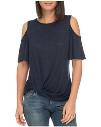 B Collection By Bobeau - Alison Cold-shoulder Tee - Lyst