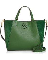 fcd23d315e17 Tory Burch - Mcgraw Leather   Suede Tote - Lyst