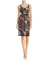 Bronx and Banco - Marietta Floral Illusion Dress - Lyst