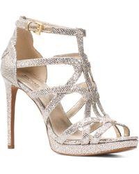 24b60c7e49e MICHAEL Michael Kors - Women s Sandra Strappy Leather Platform High-heel  Sandals - Lyst
