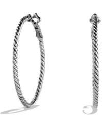 David Yurman - Cable Classics Hoop Earrings - Lyst
