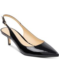 Ivanka Trump - Women's Aleth Patent Leather Pointed Toe Slingback Court Shoes - Lyst