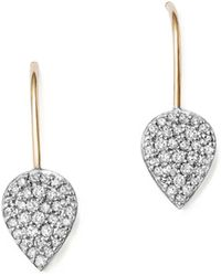 Adina Reyter - Sterling Silver And 14k Yellow Gold Pavé Diamond Teardrop Earrings - Lyst