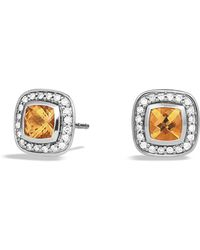 David Yurman - Petite Albion Earrings With Citrine And Diamonds - Lyst