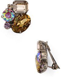 Sorrelli - Cluster Clip-on Earrings - Lyst