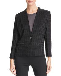 Misook - Check Knit Jacket - Lyst
