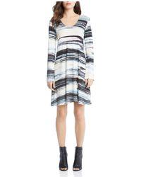 Karen Kane - Taylor Brushstroke Print Dress - Lyst