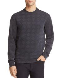 Emporio Armani - Geometric Textured Jersey Pullover - Lyst