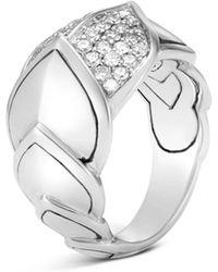 John Hardy - Sterling Silver Legends Naga Pavé Diamond Ring - Lyst