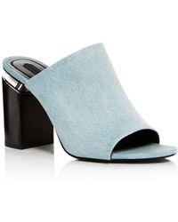 Alexander Wang - Women's Avery Open Toe Denim High-heel Sandal - Lyst