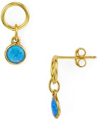 Argento Vivo - Simulated Opal Small Drop Earrings - Lyst