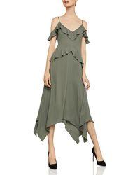 BCBGMAXAZRIA - Lissa Handkerchief-hem Slip Dress - Lyst